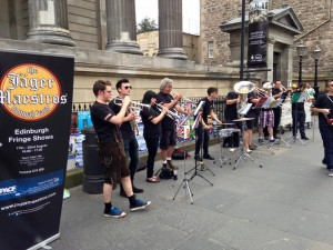 show promotion on the Royal Mile